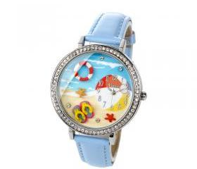 Handmade 3D Beach Polymer Clay Watch For Summer