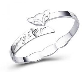 Sterling Silver Fox Bracelet For Women