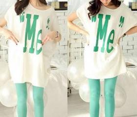 Oversized Individual Cotton Batwing Loose Tshirt